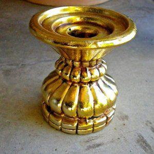 Vintage New Trends Inc. Gold Candle Holder